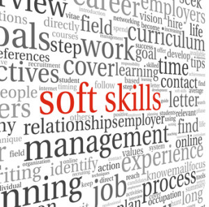 Soft skills concept on white