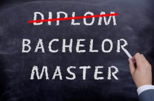Diplom Bachelor Master Tafel