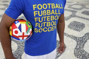 Brazilian Soccer Player International Football Shirt and Ball