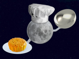 moon chef with mooncake