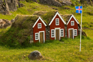 Small Icelandic houses
