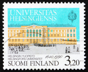 Postage stamp Finland 1990 University of Helsinki